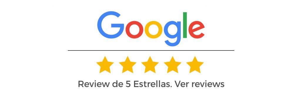 Review de 5 Estrellas en Google. Ver reviews