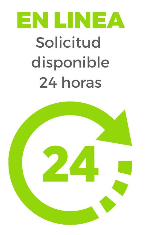 En Linea Solicitud disponible 24 horas